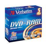 DVD-RAM 4.7GB SPEED 5X VERBATIM PACK5