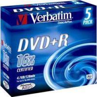 DVD+R 4.7 16X JEWELLCASE 5 VERBATIM